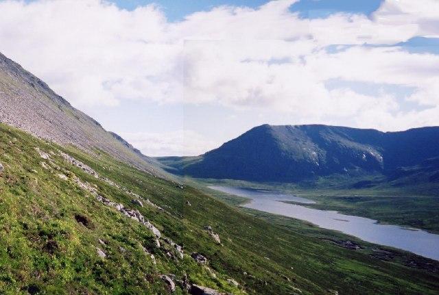 On the flank of Beinn Bheoil with Loch a Bhealaich Bheithe