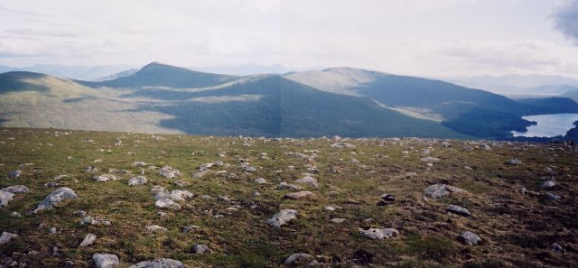 Summit of Meall Glas Choire, looking at Sgor Choinich