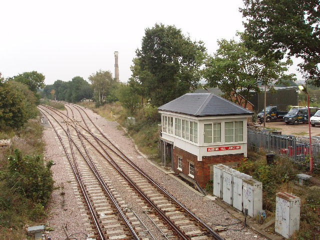 Dudding Hill Junction and signal box, Willesden