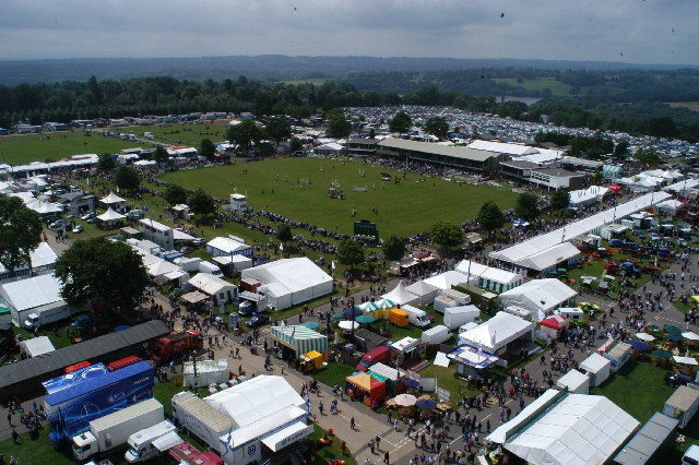 View to the South West over the 2003 South of England Show