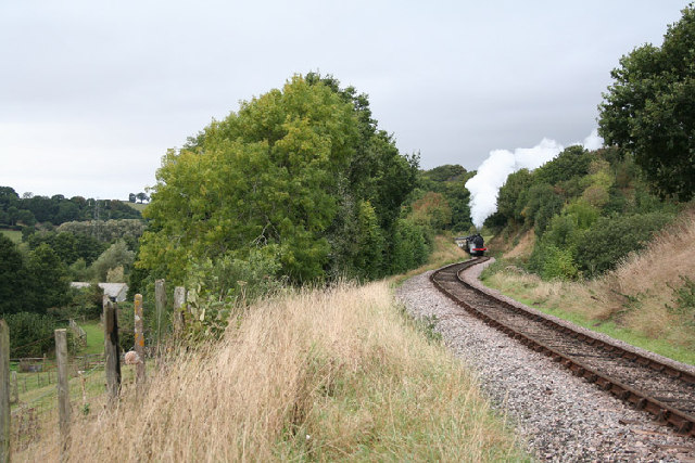 Crowcombe: West Somerset Railway near Stogumber Station