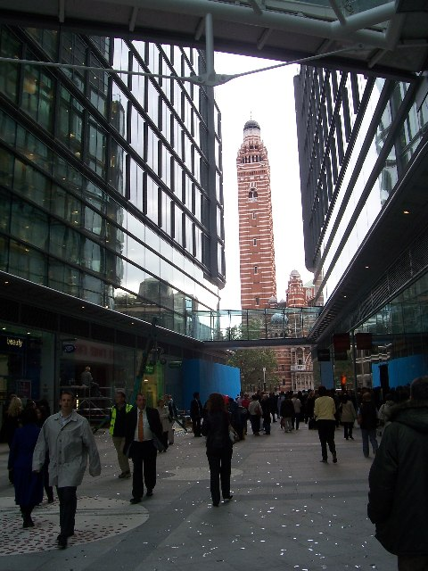 Westminster Cathedral from Cardinal Place, SW1
