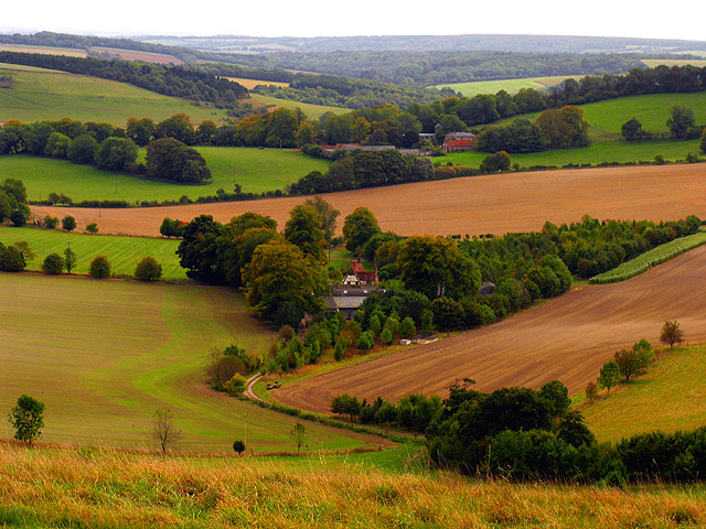 Valley between Summer and Walbury Hills