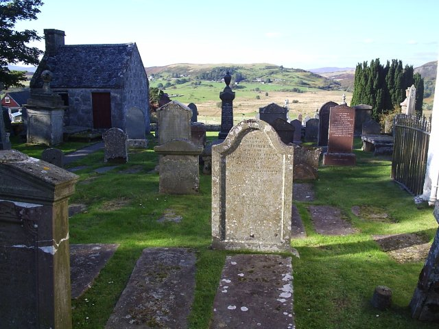 The view from St Callan's Church at Rogart
