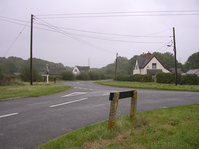 Junction of Twiggs Lane and the Beaulieu Road, New Forest