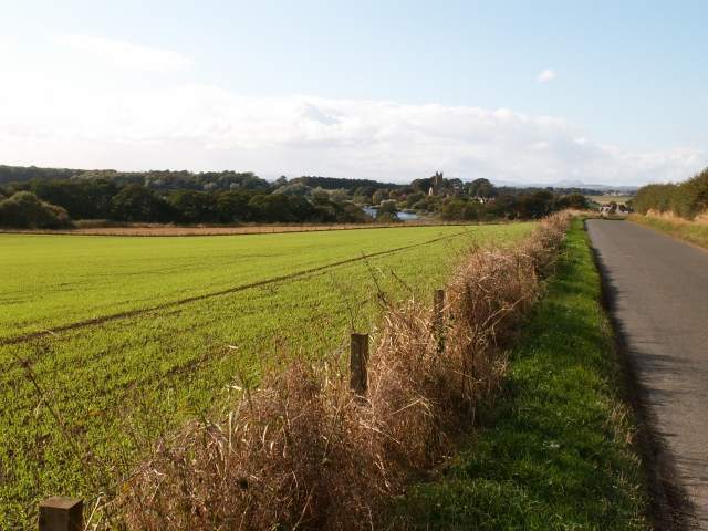 Kilconquhar Loch and fields