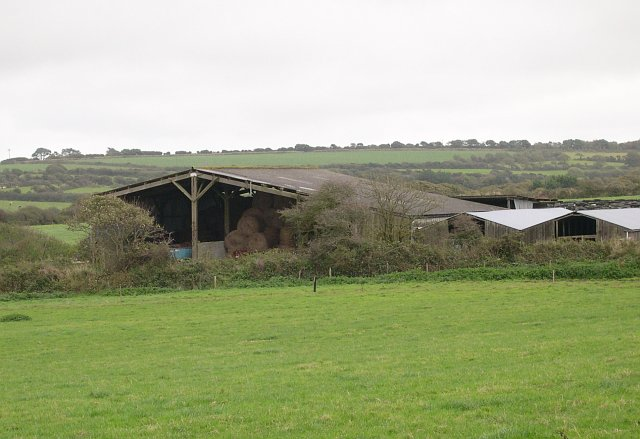 Farm Buildings in pasture land at Silverwell Farm