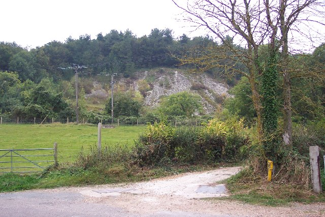 Disused chalk pit