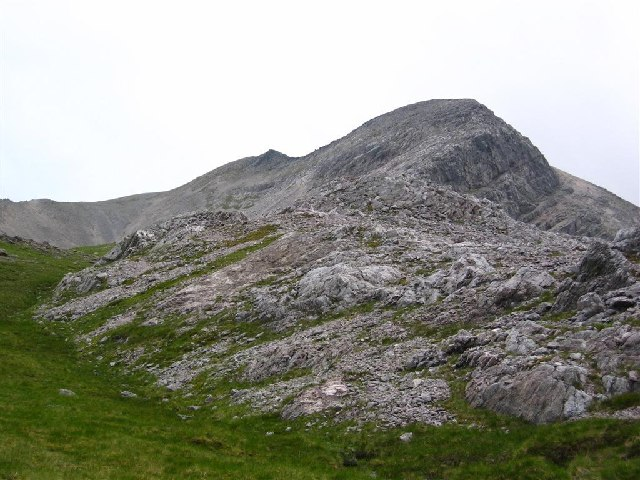 Rough country below Ruadh-stac Beag