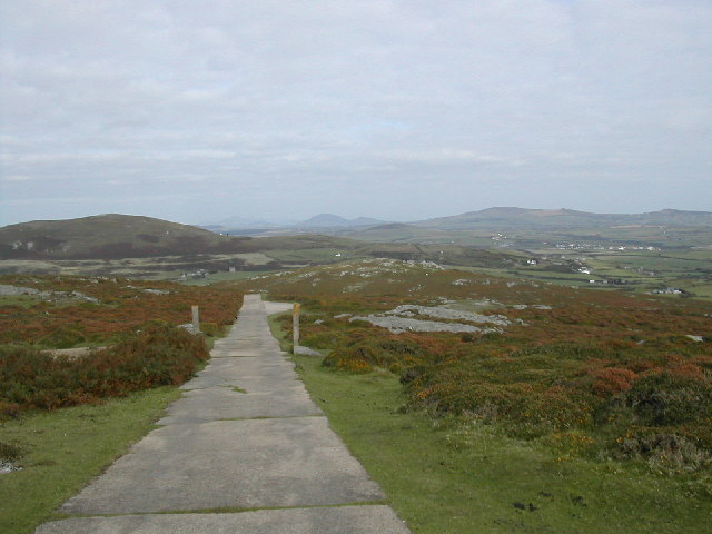Road from Coast Guard lookout on Mynydd Mawr