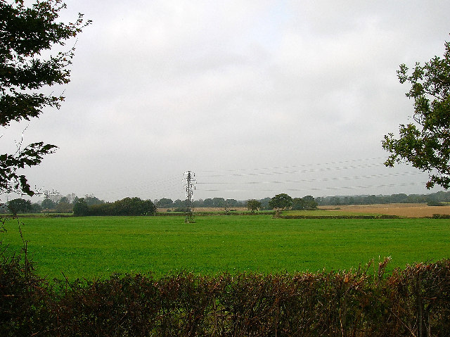 Electricity Pylons and farmland