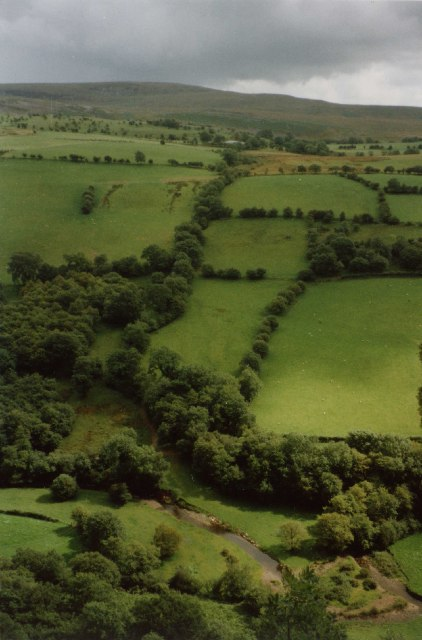 A slice of the south side of the Cennen valley, Dyffryn Cennen