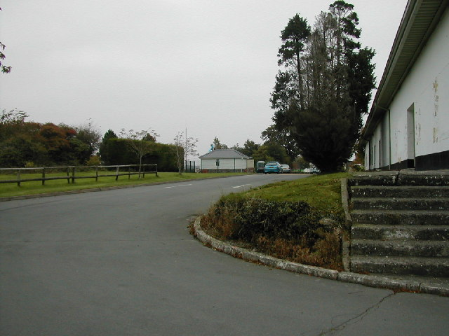 Entrance to Hafan Y Mor holiday camp