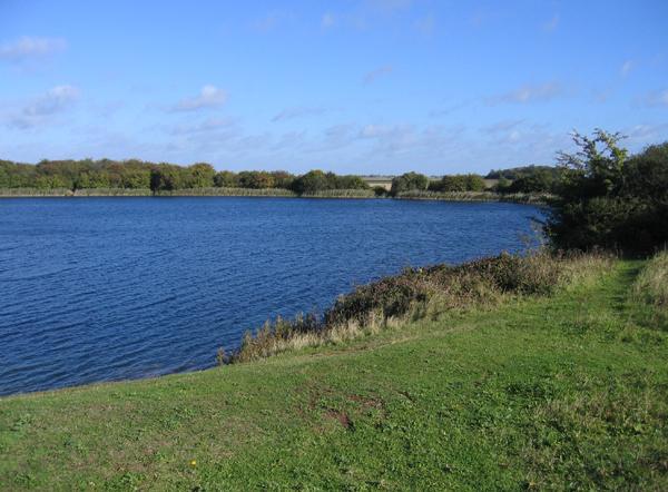 Water-filled disused brick pit, Eye Green, Peterborough