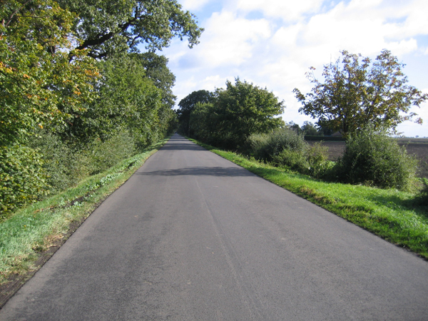 Straight fenland road, English Drove, Thorney, Cambs