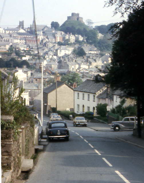 Launceston from Saint Stephens Hill 1973