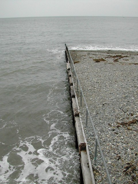 Beach defences at Criccieth