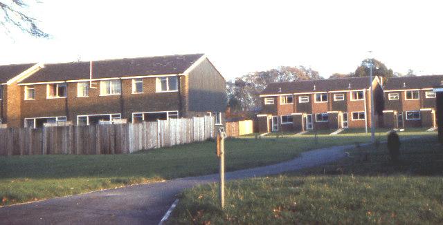 Wayside Green housing estate 1973
