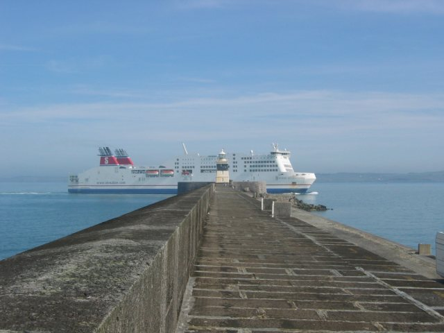 Stena Adventurer passing Holyhead Breakwater