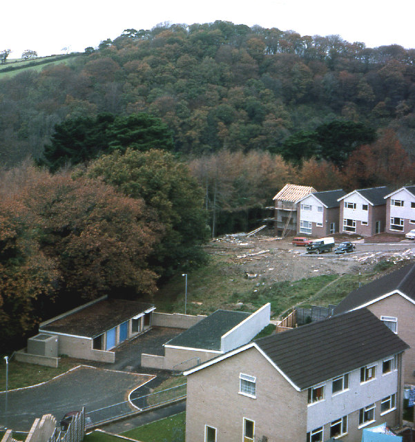 Holly Park Drive/Lakeview Drive,  Tamerton Foliot 1976