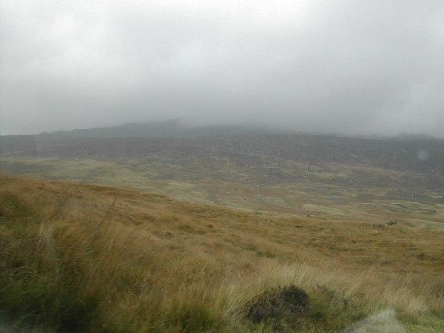 Barren hillside near Llyn Lockwood