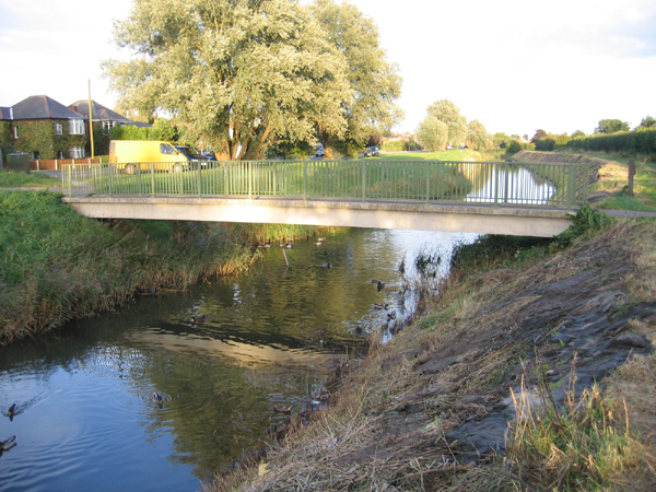 Footbridge over the North Forty Foot Drain, Boston, Lincs