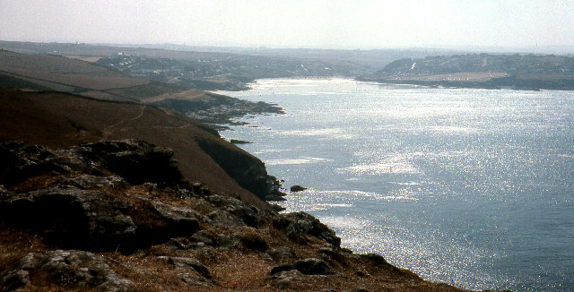 Pentire Head towards Hayle Bay and Polzeath. 1976