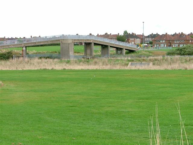 Footbridge Over Middlesbrough to Whitby Railway line