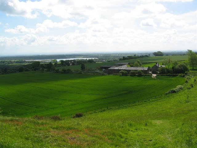 Eddisbury Hill Farm above Delamere