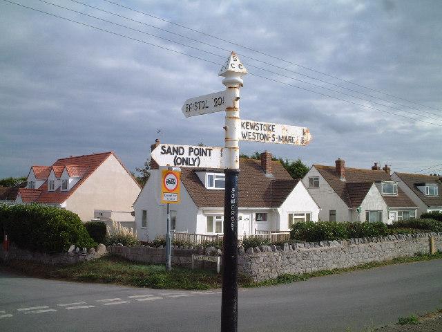Sign Post at Sand Bay