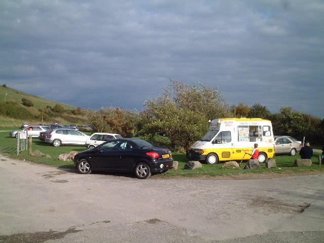 National Trust car park for Sand Point