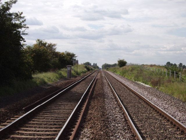 Peterborough to March railway line, Whittlesey, Cambs