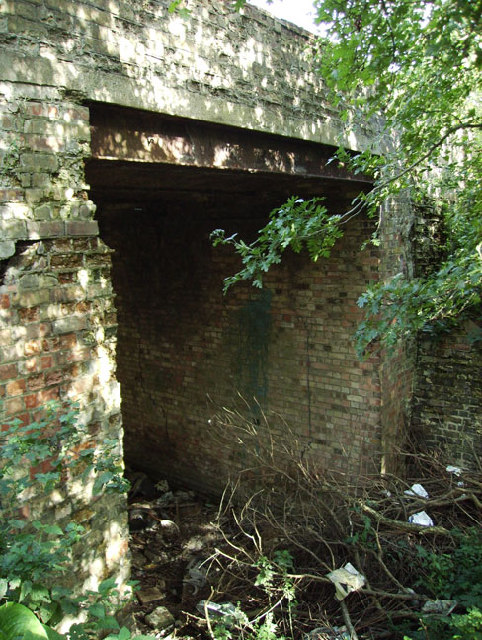 Road bridge over disused railway line, Whittlesey, Cambs