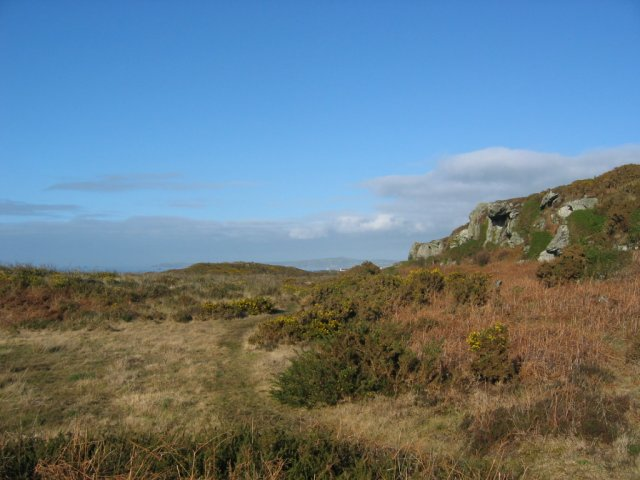 View from footpath on Y Ponciau towards Holyhead Harbour