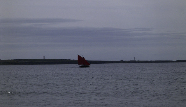 Sailing boat in Castletown Bay