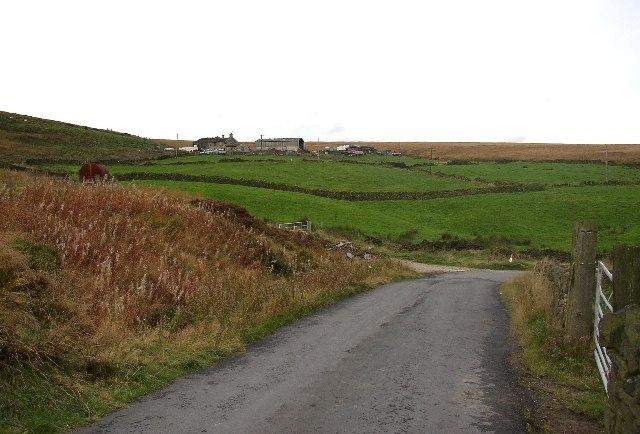 The lane across the top of Bradshaw Clough near Reaps, Slaithwaite