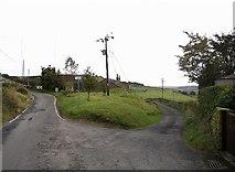 SE0614 : Road junction on Bradshaw Lane, Slaithwaite by Humphrey Bolton