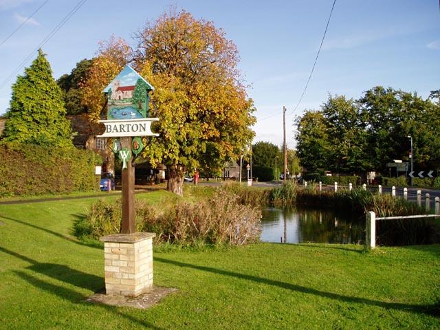 Barton village pond