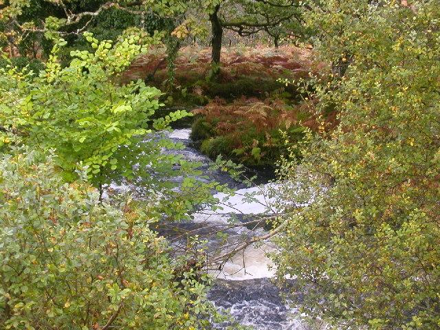 Waterfall near to Claonaig, Kintyre.