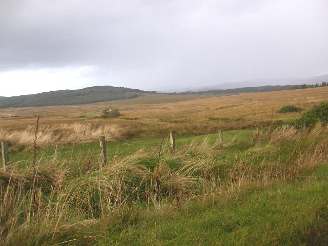View looking west from the B8001Clanoig to Redhouse, Kintyre.