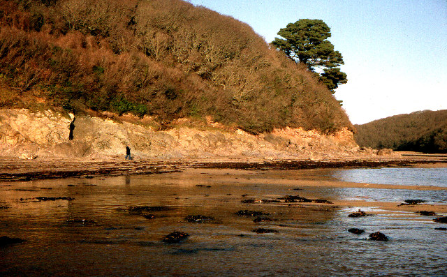 Incoming tide at Erme mouth, near Mothecombe.