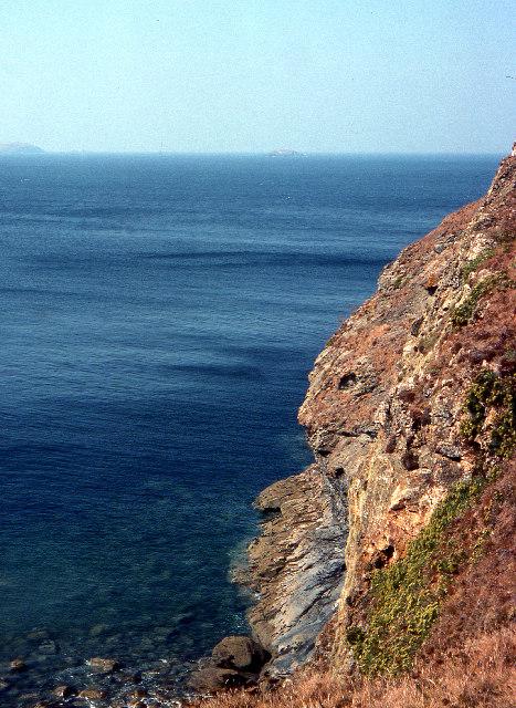 Cliffs under Pentire Point