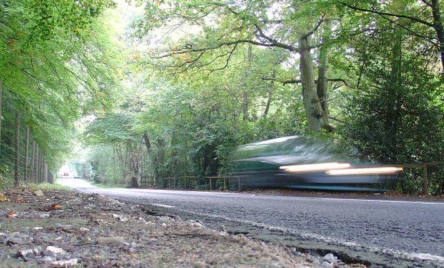 B2110 Road between Handcross and Lower Beeding, West Sussex, Adjacent to The Warren