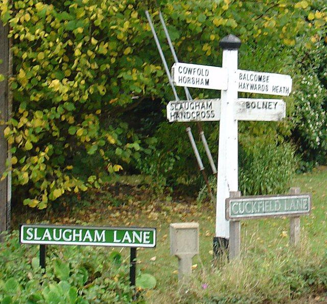 Finger Post at Crossroads, Warninglid, West Sussex.