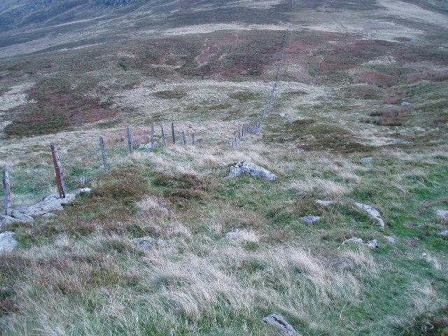Fence-line, Foel Lwyd