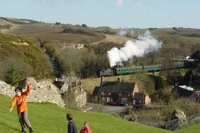 Corfe village & Swanage railway
