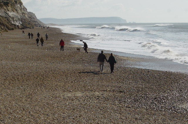 Hengistbury Head beach. March 2003