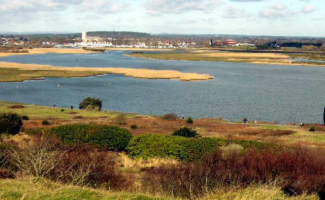 Christchurch Harbour from Hengistbury Head