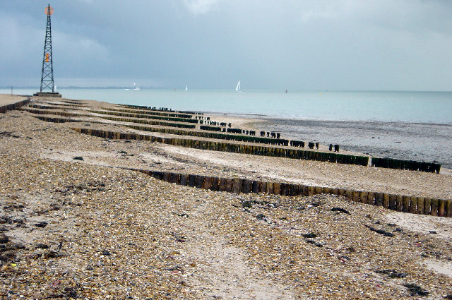 Groynes at Stansore point