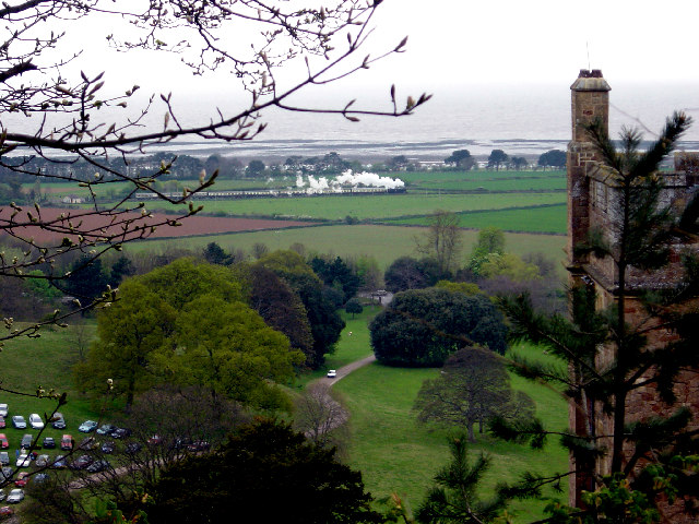 View north east from Dunster Castle
